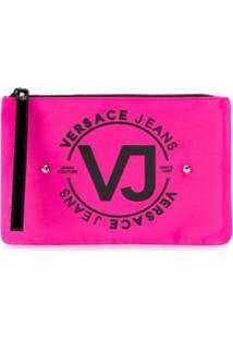 Versace Jeans Necessaire Com Logo - Rosa