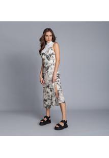 Vestido Com Alças Mídi Estampa Hollywood - Lez A Lez