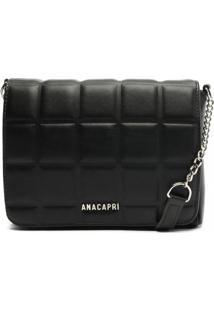 Bolsa Flap Crossbody Quadriculada Feminina Anacapri C500120367