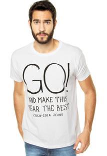 Camiseta Coca-Cola Jeans Go! Branca