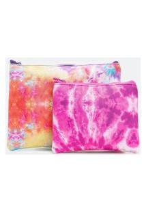 Kit Com 2 Necessaire Modelo Envelope Estampa Tie Dye | Accessories | Multicores | U