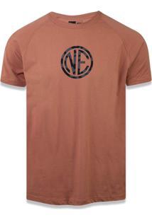 Camiseta New Era Raglan New Era Brasil Marrom Claro