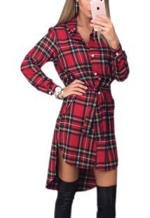 b554912a2 Vestido Chemise Xadrez feminino | Shoelover