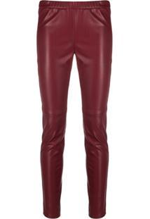 Michael Michael Kors Calça Com Textura E Cós Elástico - Vermelho