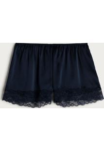 Shorts De Pijama De Seda Intimissimi Seda Azul