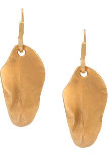 Marni Par De Brincos De Folha - Dourado