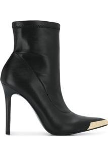 Versace Jeans Couture Ankle Boot Bico Fino - Preto
