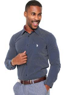 Camisa U.S. Polo Confort Azul