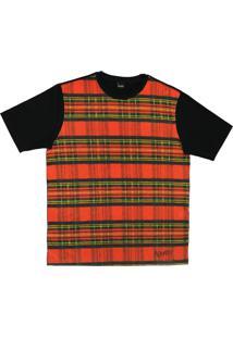 Camiseta Alkary Xadrez Vermelha