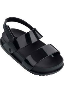 Sandália Mini Melissa Cosmic Sandal - Feminino-Preto