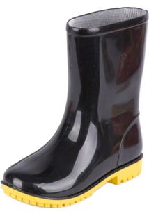Bota World Colors Galocha Tom - Masculino-Preto+Amarelo