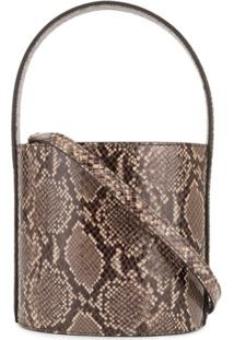 Staud Snake Detail Bucket Bag - Preto