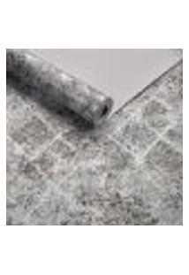 Papel De Parede Importado Geometrico Preto Com Prata