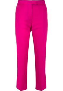 Ps Paul Smith Calça De Alfaiataria Cropped - Rosa
