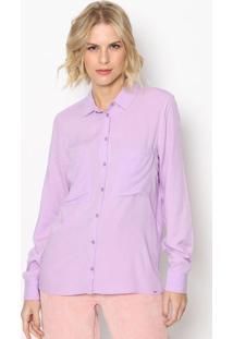 Camisa Lisa Com Bolsos - Lilã¡S - Colccicolcci