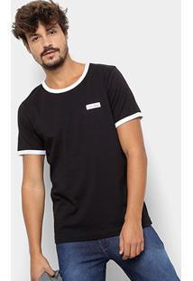 Camiseta Manga Curta Coca-Cola Estampada Masculina - Masculino-Preto