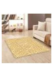 Tapete Sala Wevans Amarelo Geométrico Único 90X125