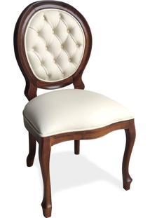 Cadeira Imperial Capitonê Madeira Maciça Design De Luxo Peça Artesanal