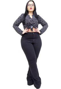 Calça Jeans Feminina Cambos Plus Size Flare Lya Feminina - Feminino