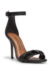 Sandalia Salto Alto Corrente Personalizada Preto
