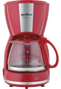 Cafeteira Inox Vermelha 550W Britânia 220V Cp15