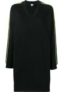 Kenzo Vestido Suéter Com Logo - Preto