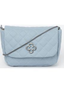 Bolsa Transversal Em Matelass㪠- Azul Claro- 14X20X8Capodarte