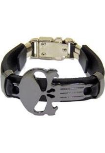 Bracelete Couro Via Luna Religião Masculino - Masculino