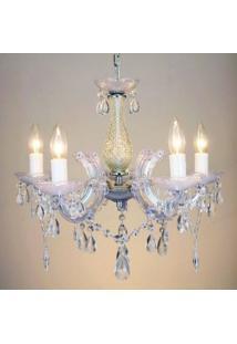 Lustre Duchessa Bella Iluminação Cromado