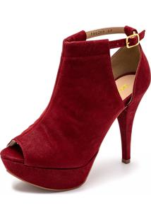 Sandália Gisela Costa Ankle Boot Vermelho - Tricae