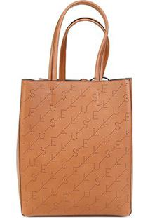 Bolsa Ellus Shopping Bag Dupla Face Feminina - Feminino-Cáqui