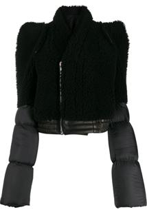 Rick Owens Contrast Padded Jacket - Preto