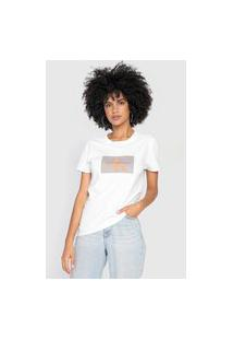 Camiseta Calvin Klein Jeans Re Issue Retângulo Branca