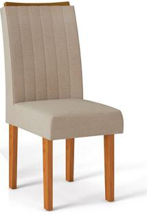 Cadeira Celina Linho Saara Carvalho Americano