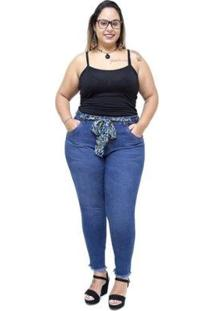Calça Jeans Cambos Plus Size Skinny Isailma Cambos Jeans Feminina - Feminino-Azul