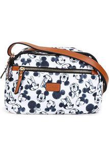 Bolsa Gash Mini Bag Mickey E Minnie Feminina - Feminino-Off White