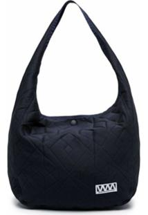 White Mountaineering Quilted Shoulder Bag - Azul