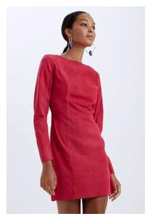 Vestido Couro Cherry Rosa Cherry