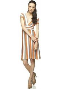 Vestido Fernanda Almeida Tricot - Feminino-Laranja
