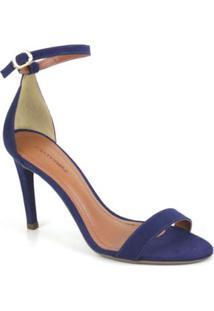 Sandália Suede Emporionaka Feminina - Feminino-Azul