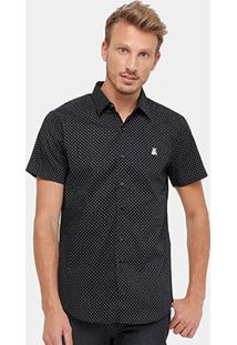 Camisa Broken Rules Mc Mini Print Masculina - Masculino