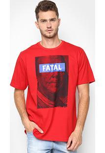 Camiseta Fatal Estampada Masculina - Masculino-Vermelho