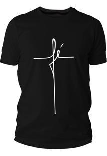 Camiseta Criativa Urbana Frases Evangélica Gospel Fé Preto