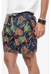 Short Azul Tropical 400087