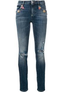 Philipp Plein Calça Jeans Com Patchwork - Preto