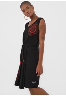 Vestido Desigual Curto Encarna Preto