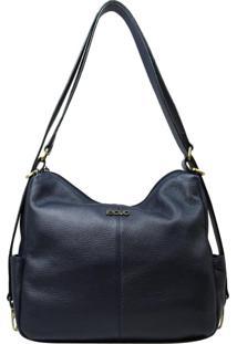 Bolsa Mochila De Couro Recuo Fashion Bag Noturno