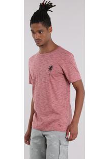 Camiseta Mescla Coqueiro Coral