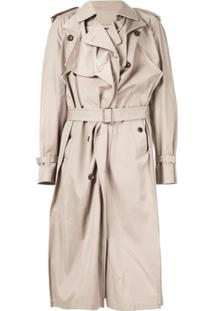 Y/Project Asymmetric Trench Coat - Neutro