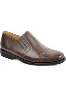 a4c169f828 Sandro Moscoloni. Sapato Marrom Tom Escuro Masculino Conforto Social Bico  Quadrado ...